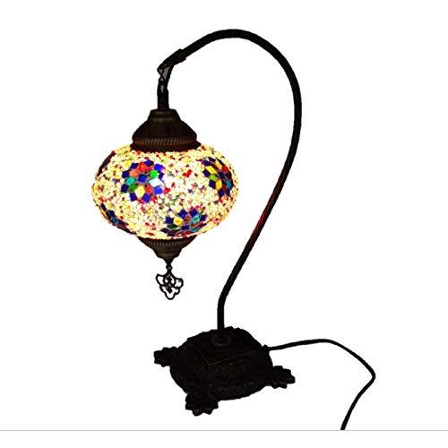 Lámpara Turca de Cisne Globo de Mesa Mesita Árabe Mosaico Cristal Otomana...
