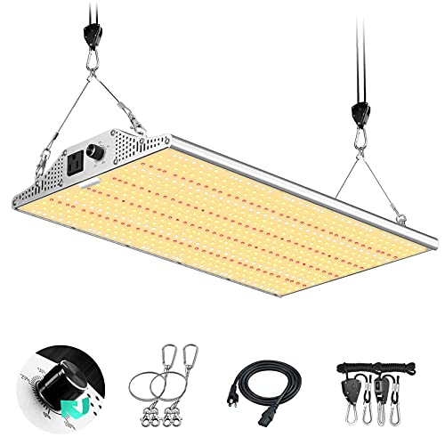 Yehsence Y2000 LED Grow Light 4x4ft Coverage, Upgraded Daisy Chain Grow Lights for Seed Starting, Dimmable Full Spectrum Plant Grow Lamps for Indoor Plants Veg and Flower with 648pcs LEDs. …
