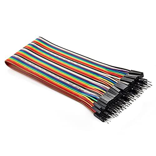 Chanzon 40 piezas 30 cm de largo macho a hembra cable de puente conector de línea de Dupont Cable cinta de 40 pines sin soldadura para Arduino Raspberry pi placa electrónica de protoboard placa PCB