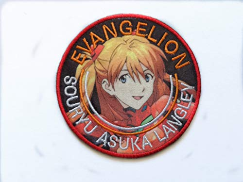 Japan Anime Evangelion Patch Military Hook Tactics Morale Embroidered Patch Asuka Langley Soryu