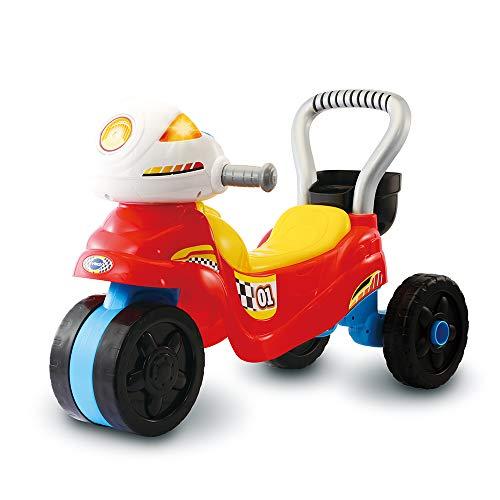 VTech - Trotti Moto 3 en 1 – Trotteur Porteur Moto Enfant pour Apprendre à Marcher / Jouet 12-36 mois – Version FR
