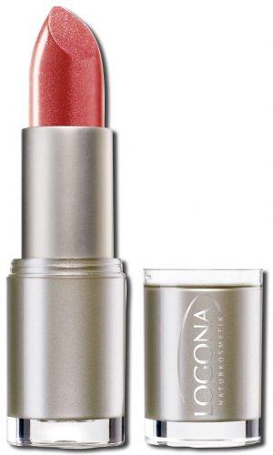 LOGONA Naturkosmetik Lipstick No. 03 Strawberry, Natural Make-up, Lippenstift, zart pflegend und sanft schützend, enthält Anti-Aging Wirkstoffe, Bio-Extrakte, 4.2 g