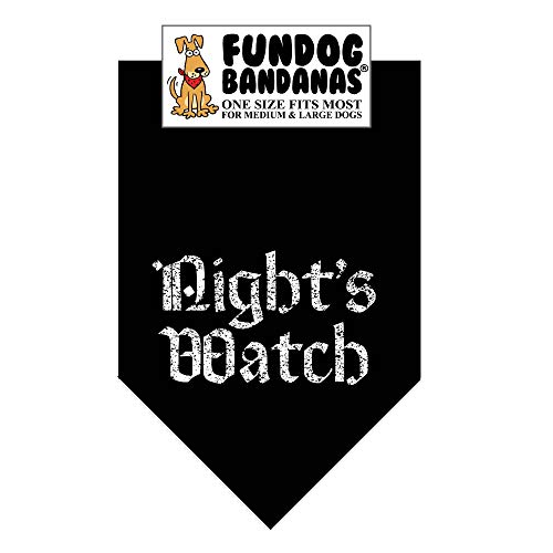 Night's Watch Dog Bandana (Game of Thrones) (One Size Fits Most for Medium to Large Dogs)