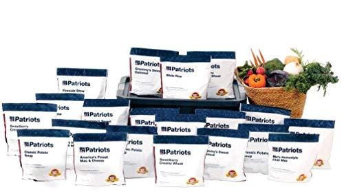 4Patriots: Emergency Food Supply - 4-Week Survival Kit - Freeze Dried Food - 25-Year Shelf Life - 196 Servings