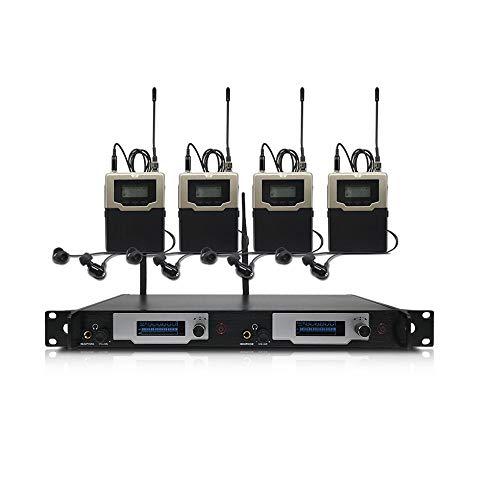 Zay Luay Receptor De Monitor De Auriculares Inalámbrico, Receptor De Audio De 572-829 MHz hasta 100 M con Auriculares En La Oreja para Escenario, Intérprete Simultáneo, Etc. (Size : One Plus Four)