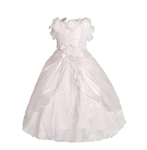 Lito Angels meisjes bloemenmeisjes bruiloft feestkleding verjaardag jurk lange avondjurk met rozet