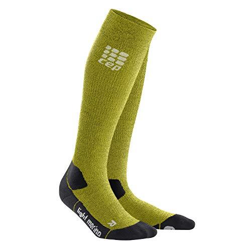 CEP – Hiking Light Merino Socks für Damen | Lange atmungsaktive Wandersocken Fresh Grass| Größe III