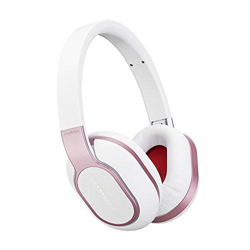 Phiaton BT 460 Pink Wireless Headphones - Over The Ear Bluetooth Headphones – Smart Headphones with Wireless Headphone Mic, Touch Interface, and Phiaton ShareMe Connectivity