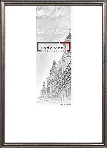 Kunststoff Bilderrahmen, Bildformat: 21 x 29,7 cm (DIN A4), Platin, Echtglas