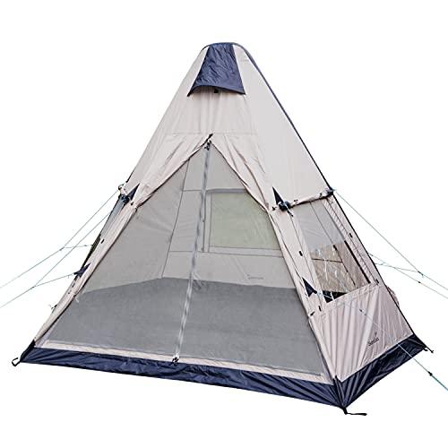Skandika Tipi Elev Air Luftzelt für 3 Personen | Zelt aufblasbar, Air Rise Technology, sehr stabil, wasserdicht, eingenähter Zeltboden, 2,6 m Stehhöhe, schneller und einfacher Aufbau | Campingzelt