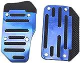 JYSFSS Pedales de Coche Suministros de Coche Caja de Cambios Antideslizante Cubierta de Pedal Acelerador de Freno, Apto para Opel Astra G/gtc/j/h Corsa Antara Meriva Zafira-Blue