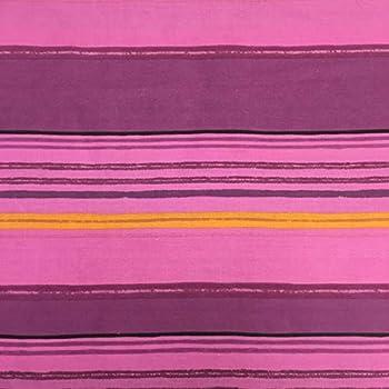 Tela por metros de sábana estampada - Algodón y poliéster - Ancho 270 cm - Confeccionar ropa de cama, decoración, manualidades | Rayas horizontales, lila: Amazon.es: Hogar