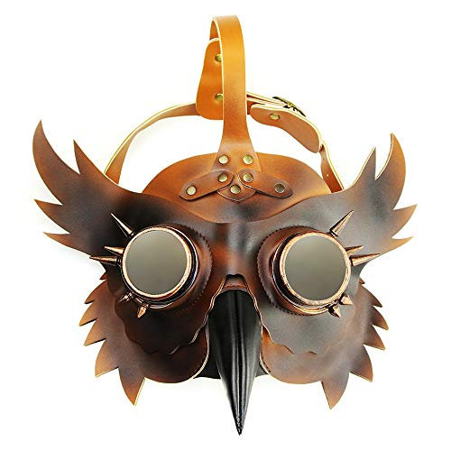 ZQQ Rollenspiel-Masken, Leder Pu Metall Tiermaske-for-Stab-Partei Halloween-Karneval-Maskerade Props Abendkleid