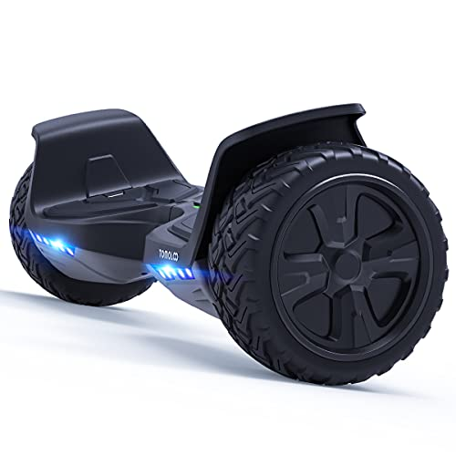 Tomoloo Hoverboard Off Road with Bluetooth and LED Lights, 8.5'' All Terrain Hoverboards for Kids and Adults with APP Control, UL2272 Certified Self Balancing Hover Board Electric Scooter