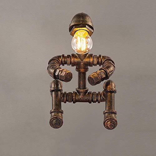 LTAYZ Lámpara Escritorio 17 * 25 cm Estilo Industrial Retro Steampunk Tubo de Agua lámpara de Mesa lámpara de Mesa decoración del hogar Hierro
