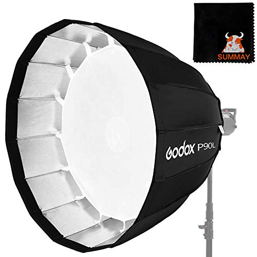 GODOX 90cm Deep Softbox P90L Bowens Mount für Studio Monolight Flash Light (P90L)
