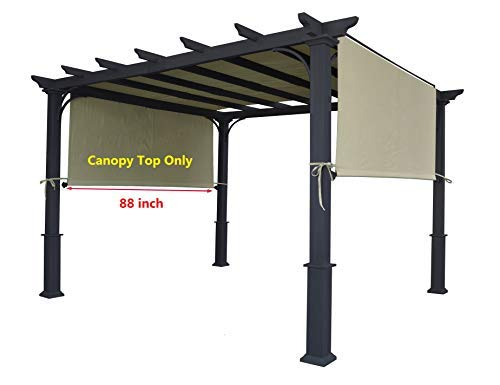 ALISUN Universal Replacement Canopy Top for 8' x 10' Pergola Structure - Beige (Size: 194' x 88')