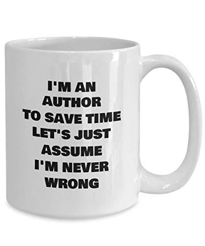 N\A Taza Blanca de Autor Taza de té de café Divertida Novedad Idea de Regalo Barata para futuros autores Famosos Taza Grande
