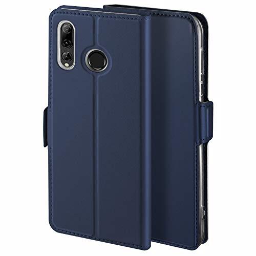 YATWIN Handyhülle für Huawei P Smart Plus 2019 Hülle Leder Premium Leder Flip Schutzhülle für Huawei P Smart Plus 2019 Tasche, Blau