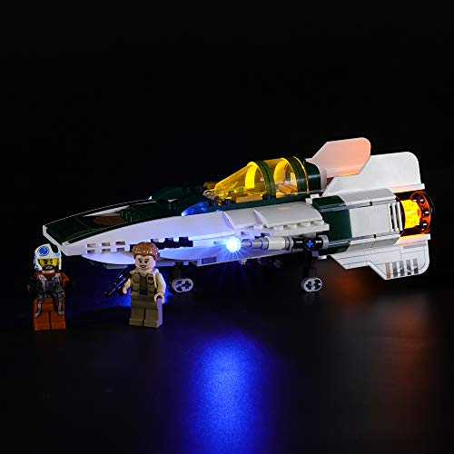 BRIKSMAX Led Beleuchtungsset für Lego Widerstands A-Wing Starfighter,Kompatibel Mit Lego 75248 Bausteinen Modell - Ohne Lego Set