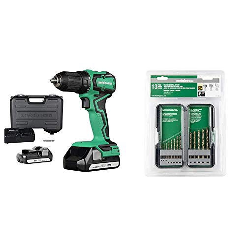 Metabo HPT 18V Cordless Driver Drill with Drill Bit Set, 13 Piece