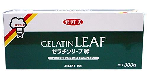 株式会社ジェリフ 野洲化学 板ゼラチン 緑 300g ×30個【入り数2】