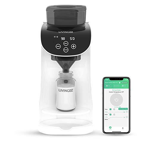LivingEZ Smart Formula Mixer Pro- App Controled WiFi Baby Formula Dispenser Machine- Automatic Baby Formula Maker Bottle Milk Mixer Powder Blender for Similac Enfamil (Dual Band Wi-Fi Supported)