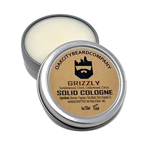 OakCityBeardCo. - Grizzly - Men's Solid Cologne - 1oz