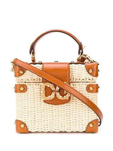 DOLCE E GABBANA Luxury Fashion Damen BB6840AX6298B166 Beige Grobes Leinen Handtaschen   Frühling Sommer 20