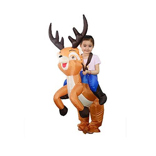 SZDAJAN Blow Up Reindeer Costume Kids Christmas Inflatable Costumes(Kids, Reindeer)