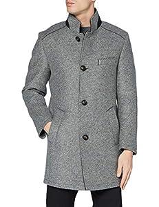 Bugatti Herren 625633-64085 Wollmantel, grau, 52