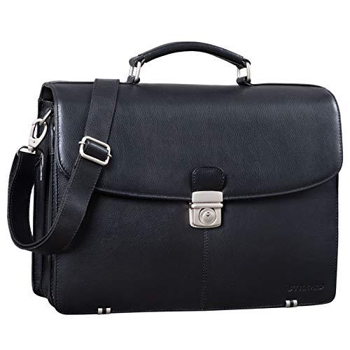 STILORD 'Miguel' Classic Briefcase Leather Men Portfolio for Business Office Shoulder Bag...