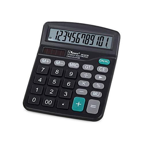 WK-BLK1 - Calculadora de mesa (tamaño XL, con pantalla LCD)