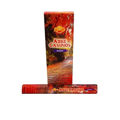 Incienso SAC Abre Caminos (olor a pachuli y mandarina) - Set de 6 paquetes hexagonales