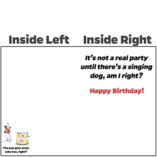 Beacon Streets Singing Dog Happy Birthday Cards, 5 Pack. This Pup Knows How to Get Down & Party! Premium Greeting Card & Envelopes Value Set. Great Funny Gift for Kids, Boys, Girls & Pet Lovers. Photo #2
