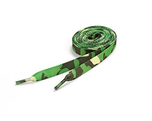 Underground Kulture Lacets de Skate - Camouflage 11mm x 120 cm (Flat Camo Shoelaces)