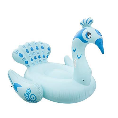 LCYCN Aufblasbarer,Riesen-Pfauen-Premium-Vogelschwärme für Schwimmbäder,B,190X160X150CM