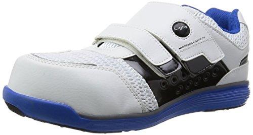 [マルゴ] 安全靴 作業靴 樹脂先芯 軽量 JSAA A種 耐油 4E マンダムセーフティーLight 769 BL/WH 27 cm