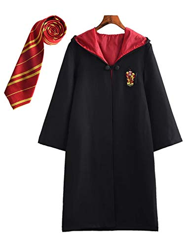 Monissy Harry Potter Kostüm Damen Herren Kinder Spielzeug Hermine Granger Kostüm Hufflepuff Slytherin Ravenclaw Griffindor kostüme Harry Potter Umhang Schuluniform Fanartikel Karneval Kostüm Set