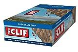 CLIF Bar Chocolate Chip - Barrita Energética 68 g (Paquete de 12)