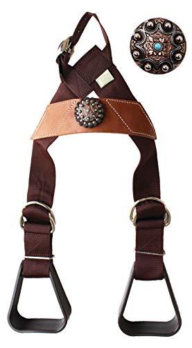 CHALLENGER Horse Saddle Western Kids Child Youth Pony Buddy Stirrups w/Concho 5138CO553