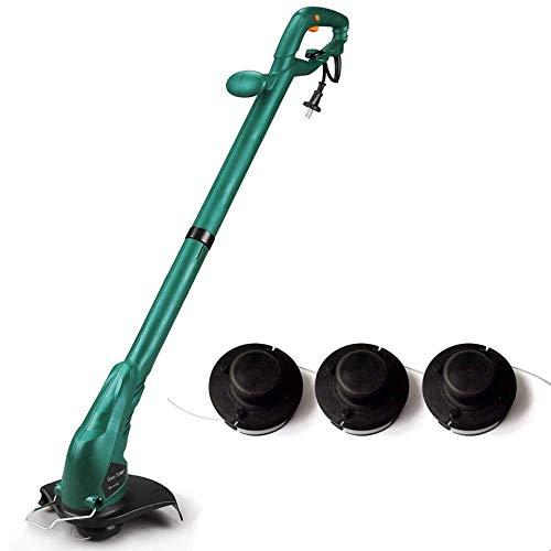 YLJYJ Elektrischer Rasenmäher, 32 cm Schnittbreite, Grasschneider, tragbarer elektrischer Rucksack-Rasenmäher + 10 m Netzkabel, multifunktionaler Rasenmäher mit Unkrautschnitt