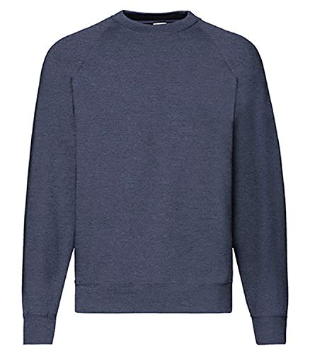 Fruit of the Loom Basic Raglan Sweatshirt (L, Vintage Navy)