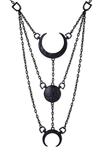 Restyle geheimnisvoller zunehmende Mondphasen-Gothic-Anhänger und Halskette
