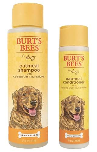バーツビーズ Burt's Bees 犬用 オートミールシャンプー&コンディショナー セット (並行輸入品)