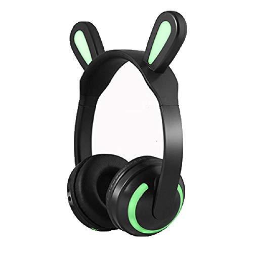 SFBBBO Auriculares Dibujos Animados Lindo Bluetooth Gato Auriculares Gatito Auricular inalámbrico estéreo de Alta fidelidad con micrófono Regalo para Esposa Novia Rabbitears