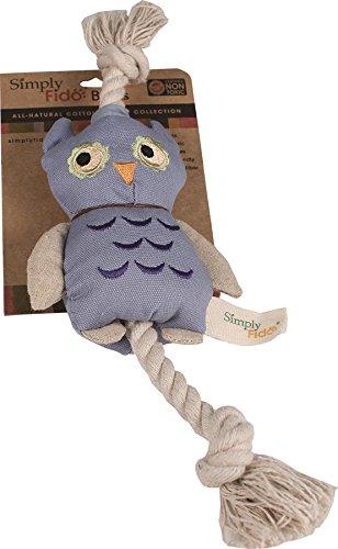 Simply Fido Blue Owl Canvas Dog Toy