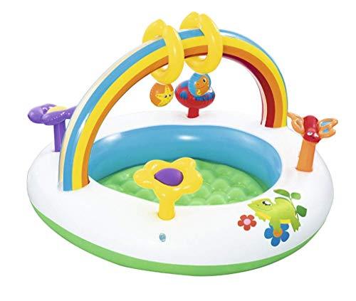DFKDGL Klappschwimmbad Schwimmbad, Kinderbecken, aufblasbares Sommer-Ponton-Baby-Planschbecken, 91-mal, 56 cm Showe Ideal für alle Kinder und Erwachsene