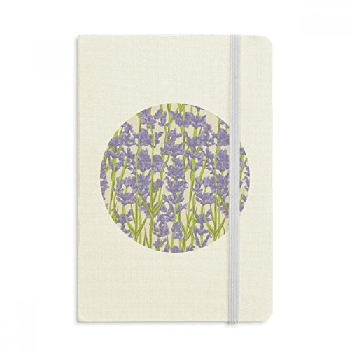 Flowers Plant Painting lavender Notebook Official Fabric Hard Cover Classic Journal Diary