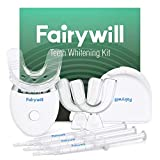 Fairywill Teeth Whitening Kit with Led Light for Sensitive Teeth, Professional Teeth Whitener Kit, 35% Carbamide Peroxide 3ml(3) Gel with 5X Blue Light Accelerated, Enamel Safe Teeth Bleaching Kit